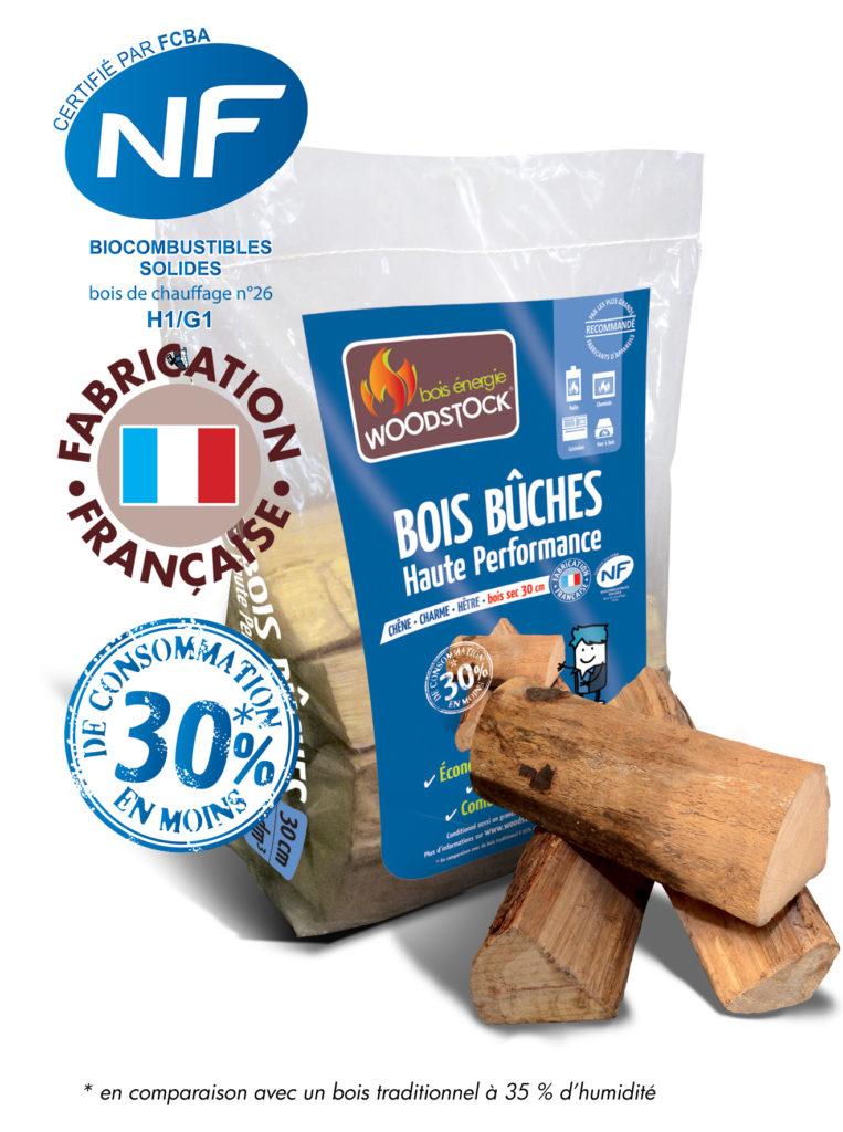 sac bûches de bois woodstock